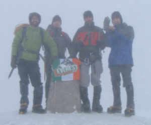 Ben Nevis, Mar 2011. Highest mountain in Ireland & UK. 1,344m
