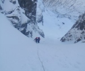 Climbing up Gully 3, on Ben Nevis March 2012