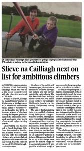 Slieve na Cailliagh